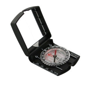 compass with signal mirror