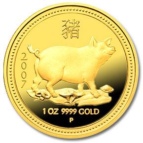 Australia 2007 Gold Coin chinese zodiac pig